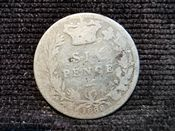 Victoria, Silver (.925), Young Head Sixpence 1886, Fair, M10472